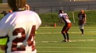 High school football, #19 kickoff tackle and fumble Stock Footage