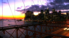 Brooklyn Bridge USA T-lapse Stock Footage