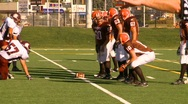 High school football, #25 pass and tackle Stock Footage