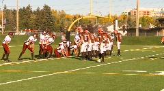 high school football, #38 short run TD - stock footage