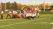 High school football, #38 short run TD Stock Footage