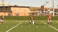 High school football, #16 kick convert Stock Footage