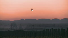 Helicopter and pre sunrise sky Stock Footage