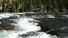 River white water flow Yellowstone P HD 2635 Stock Footage