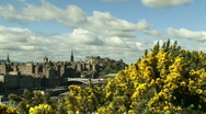 Edinburgh City time lapse from Calton hill Stock Footage