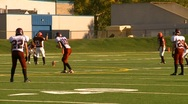 High school football, #18 kickoff run Stock Footage