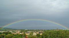 Stock Video Footage of Rainbow over Edinburgh 2