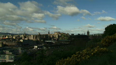 Time Lapse Clouds over Edinburgh 2 Stock Footage