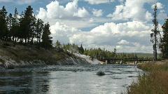 River walk Yellowstone P HD 2988 - stock footage
