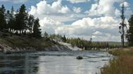 River walk Yellowstone P HD 2988 Stock Footage