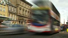 Timelapse traffic Edinburgh centre Stock Footage
