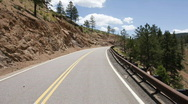 Stock Video Footage of Mountain Road Timelapse