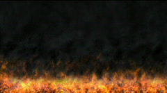 Fire growing - stock footage