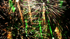 Fireworks abstract light pattern explosion sparkle celebration Stock Footage