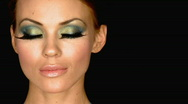 Portrait of beautiful sexy woman with outstanding makeup Stock Footage