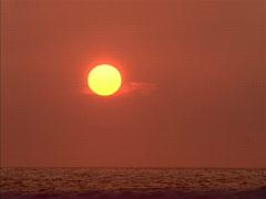 Sunset over Ocean 640x480 Stock Footage