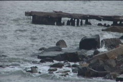 Wrecked Dock - stock footage
