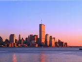 Stock Video Footage of New York Sunset World Trade Center PAL