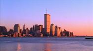Stock Video Footage of New York Sunset World Trade Center HD