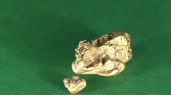 Gold nugget Stock Footage