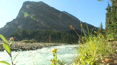 Headwaters of the Bow River & Crowfoot Mtn 10,023' Stock Footage