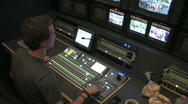 Stock Video Footage of Broadcast truck