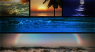 Stock Video Footage of (1127) Beach Ocean Surf and Sunsets Looping Composition
