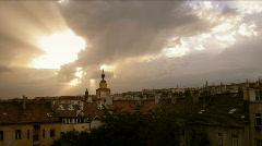 Timelapse panorama glory shine Stock Footage