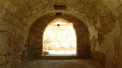 Caesarea arch building Stock Footage