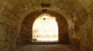 Caesarea arch building Stock Footage