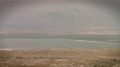 Dead sea landscape Stock Footage