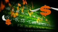 Trading board and dollar symbols  Stock Footage