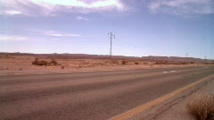 A Desert Road Stock Footage