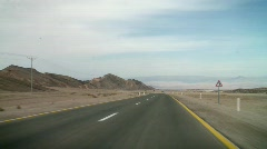 Driving in the desert - stock footage