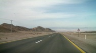Stock Video Footage of Driving in the desert