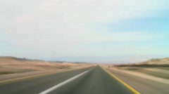 Stock Video Footage of Driving fast in the desert