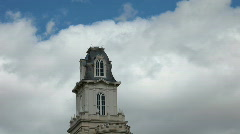 Temple Tower Manti fast clouds P HD 3639 Stock Footage
