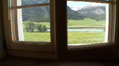 Window pan Stock Footage