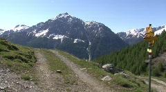 Pan mountain panorama Stock Footage