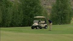 Golf Chip Green Sun Valley Idaho 14 23.98 Stock Footage