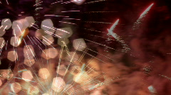 Fireworks abstract light pattern explosion sparkle celebration Stock Footage