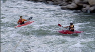 Stock Video Footage of Expert Whitewater Kayak 3 23.98