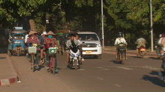 Laos: Traffic Stock Footage