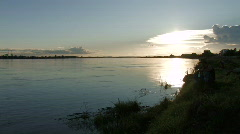 Laos:Mekong River Stock Footage