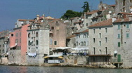 Stock Video Footage of Houses on the waterfront at Rovinj Croatia