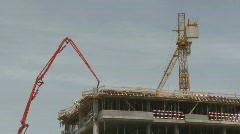 Time lapse building under construction Stock Footage