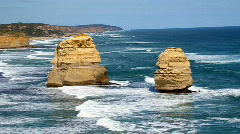 12 Apostles in Australia HD 1080i Stock Footage