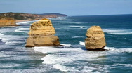 Stock Video Footage of 12 Apostles in Australia HD 1080i