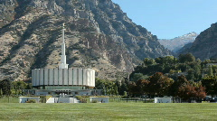 Temple LDS Provo P HD 3660 Stock Footage