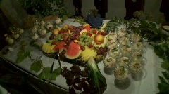 Fruit Dessert - stock footage